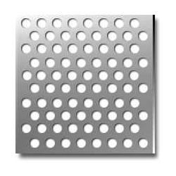 Tabla cu perforatii rotunde