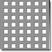 Perforated metal sheets square holes